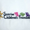 embroidery sunrise childrens foundation
