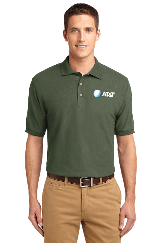 digital garment printing green polo model