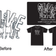 garment printing love before after