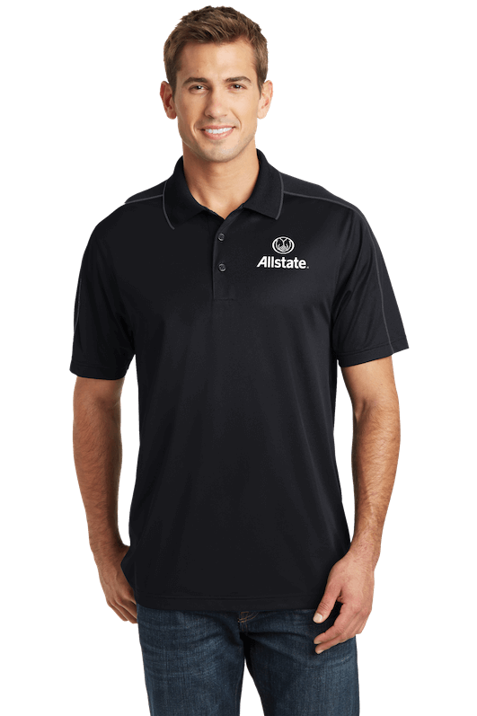 screen printing las vegas black polo model